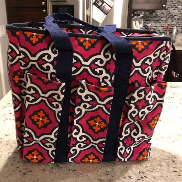 Buckhead Betties Handbags - Pink and Navy Organizing tote 1425122f1